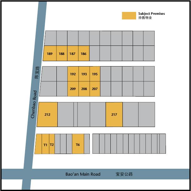 上海嘉定区马陆镇工业区园内14幢厂房整体或部分出售